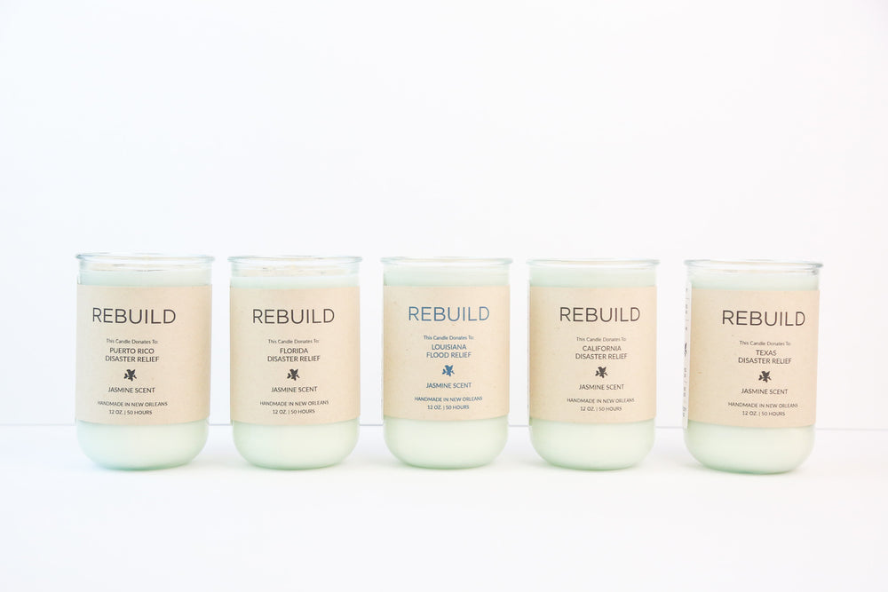 Rebuild, Texas Flood Relief / Jasmine Scent: Candles for Good