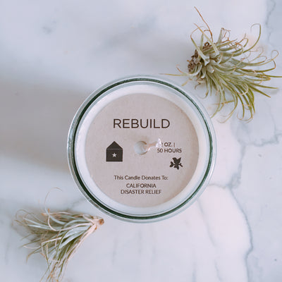 Rebuild, Northern California Wildfire Relief / Jasmine Scent: Candles for Good