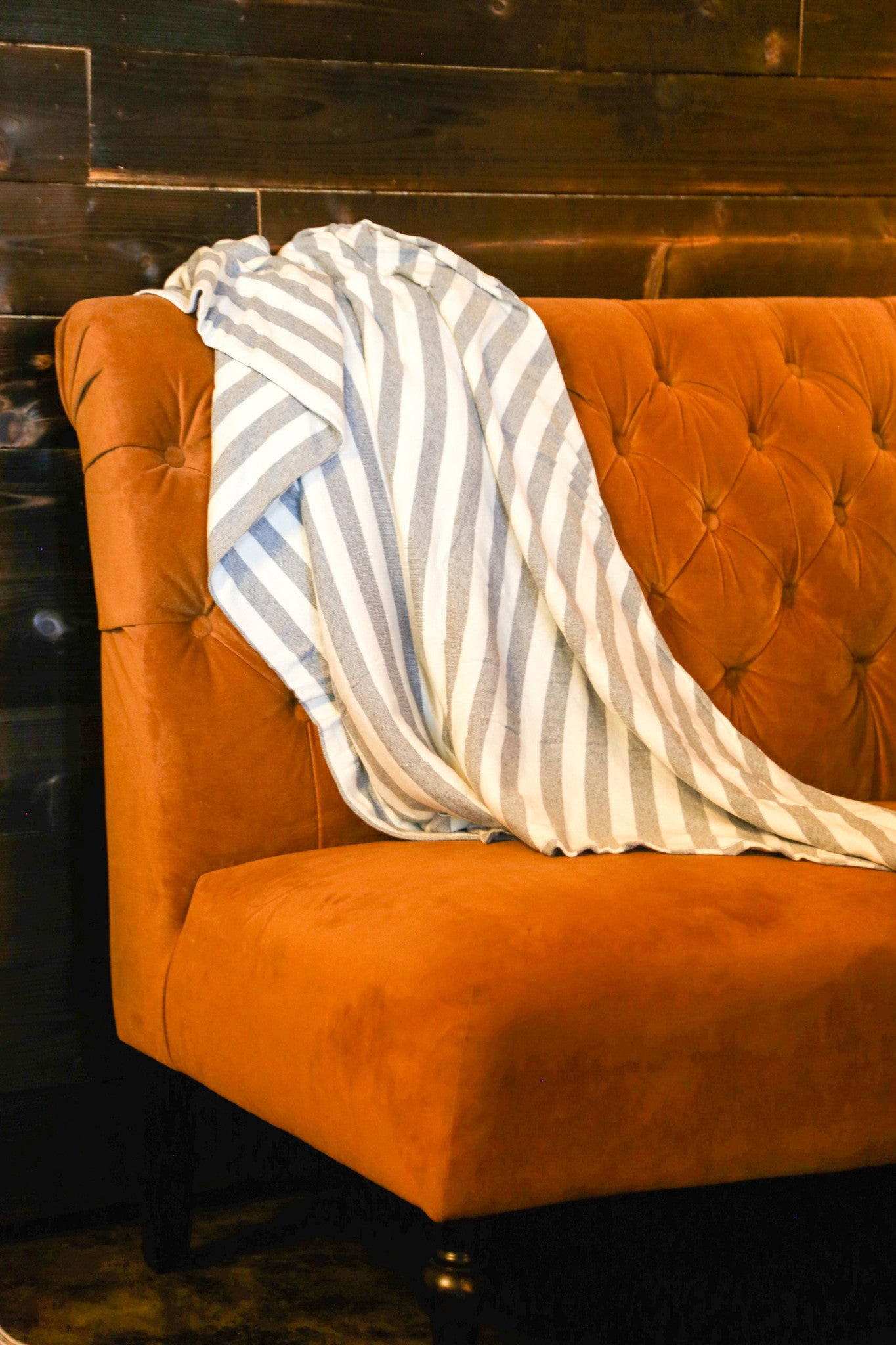 Striped Eco-Throw Blanket