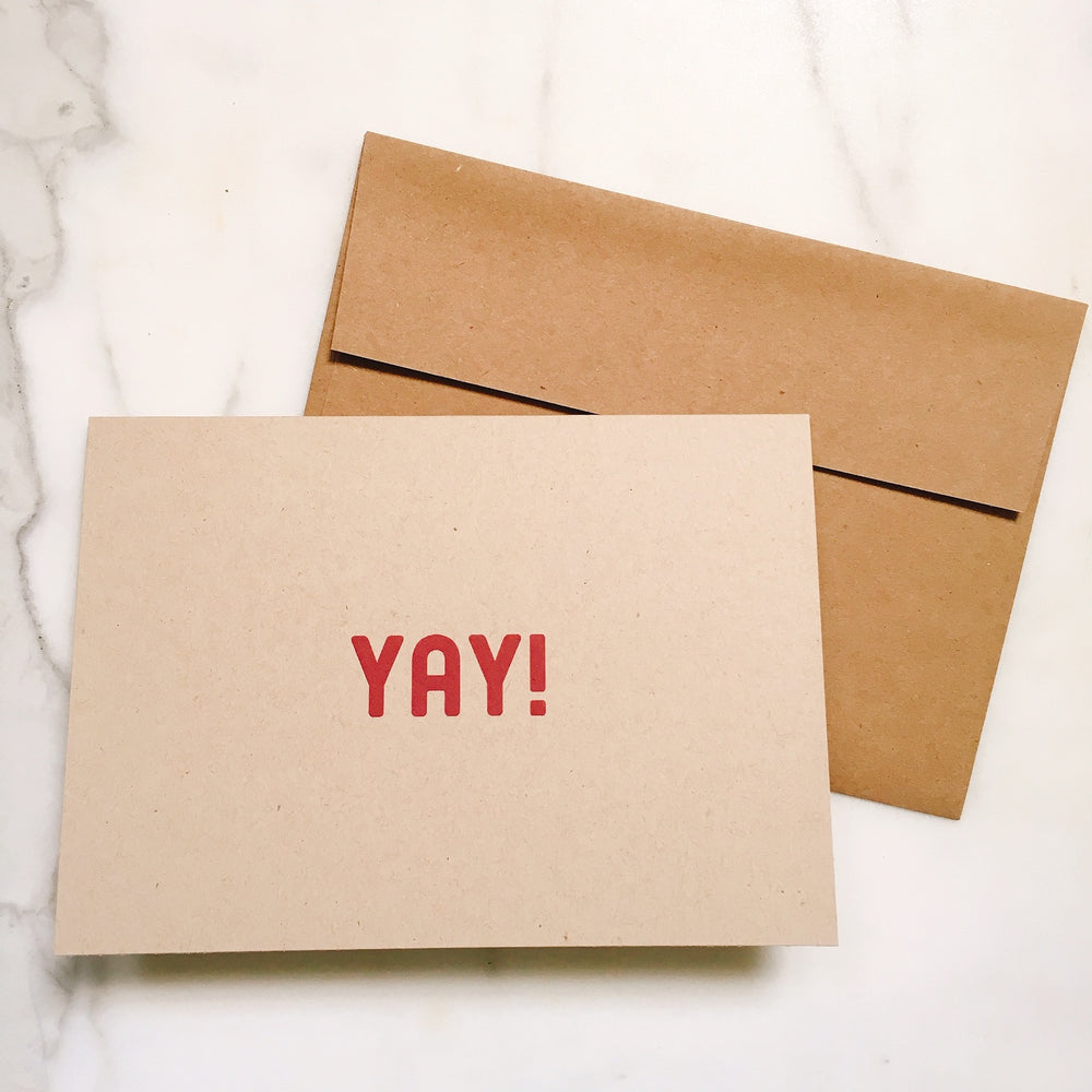 YAY! - Greeting Card