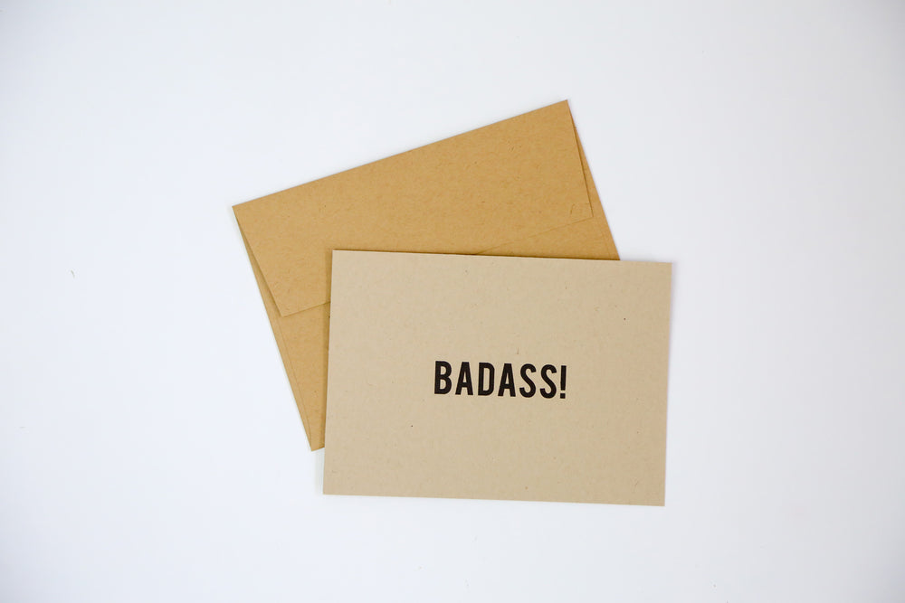 Badass - Greeting Cards