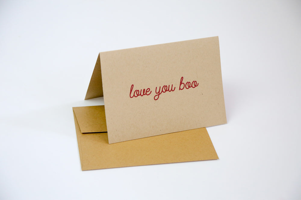 Love you boo - Greeting Card