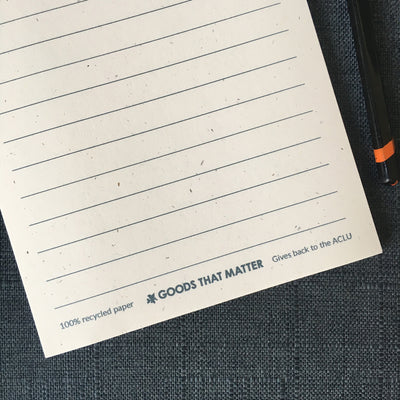 Make Blank Blank Again notepad - Gives to ACLU