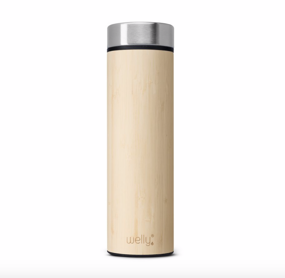 To-Go / Travel Water Bottle 18 oz. bamboo welly