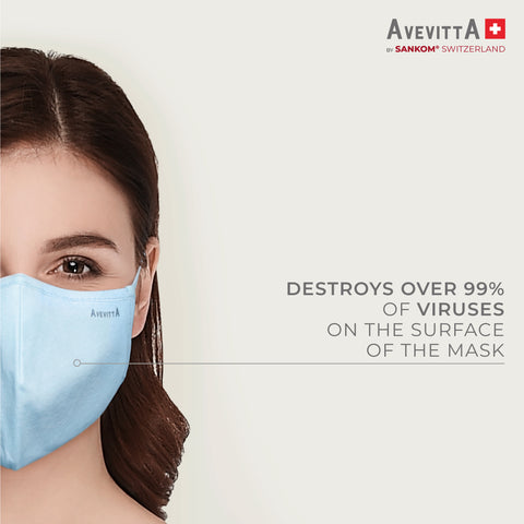 Avevitta Protect 2.0 Anti-Virus Nano Technology Mask - White