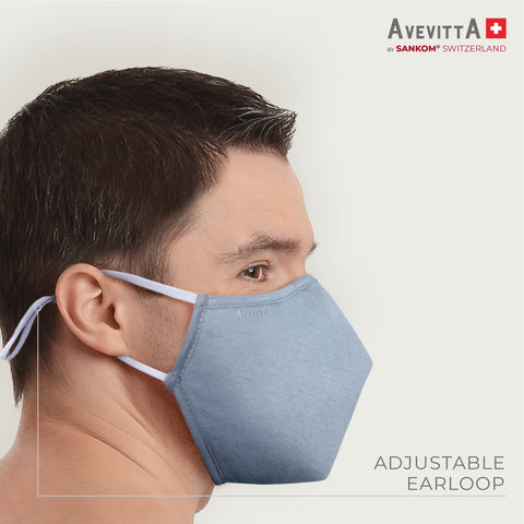 Avevitta Protect 2.0 Anti-Virus Nano Technology Mask - Blue