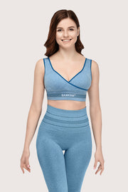 SANKOM PATENT ACTIVEWEAR BRA - LIGHT BLUE