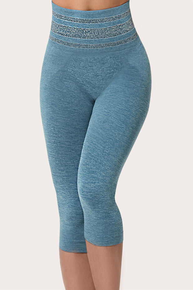 SANKOM PATENT ACTIVEWEAR CAPRI - LIGHT BLUE