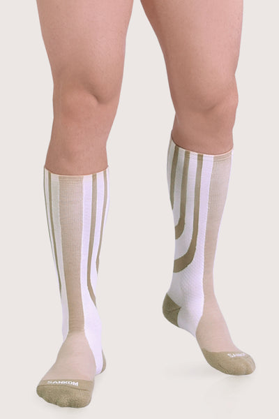 SANKOM MEN PATENT HYPOALLERGENIC COMPRESSION SOCKS - WHITE