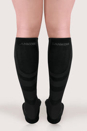 SANKOM MEN PATENT HYPOALLERGENIC COMPRESSION SOCKS - BLACK