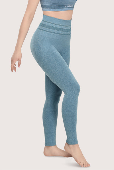 SANKOM PATENT ACTIVEWEAR LEGGINGS - LIGHT BLUE