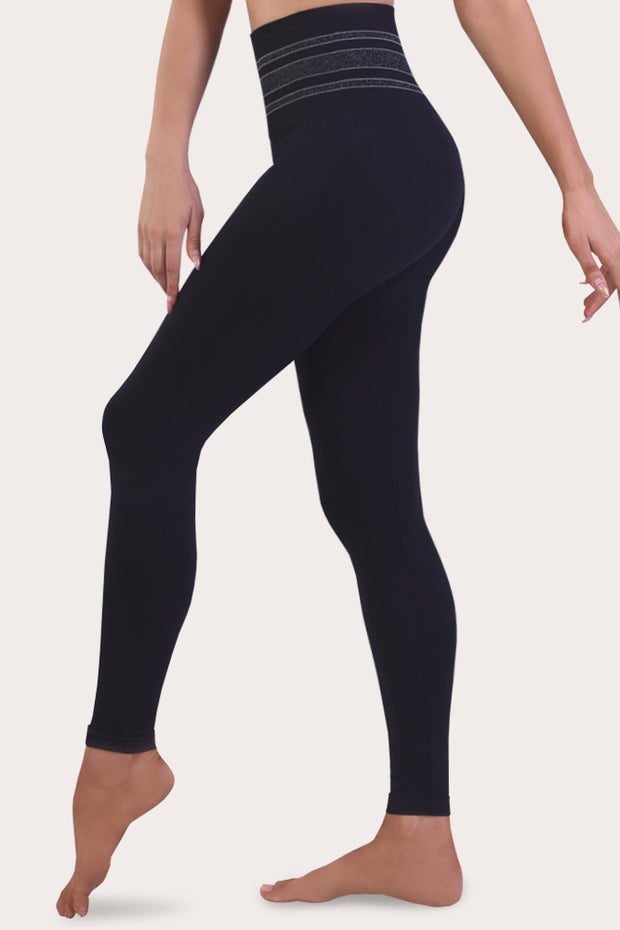 SANKOM PATENT ACTIVEWEAR LEGGINGS - BLACK & SILVER