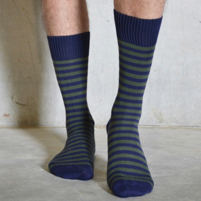 Mens Striped Cotton Socks