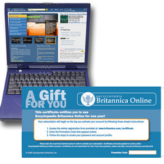 Britannica Online Subscription Gift Certificate