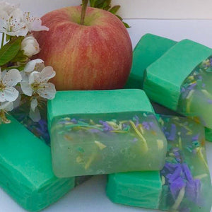 Intense Apple Fragranced Dual Shampoo and Body bar.