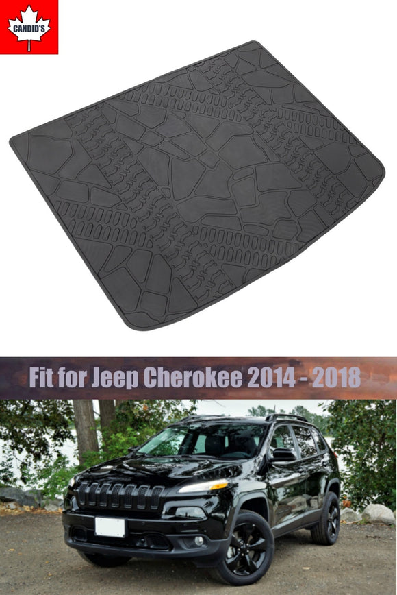 Cargo Mats for Jeep Cherokee 2014-2018 All Weather Guard Cargo Mat TPE Slush Liners