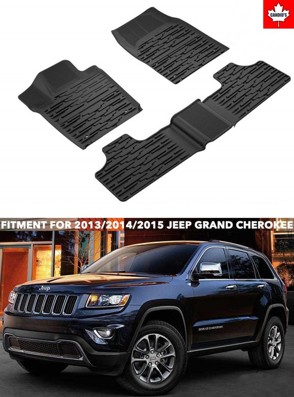 Floor mats for Jeep Grand Cherokee 2013-2015 All Weather Guard Mat 1st & 2nd Row TPE Slush Liners