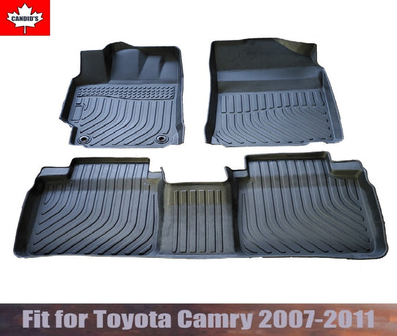 Floor Mats for Toyota Camry 2007-2011 All Weather Guard 1st & 2nd Row Mat TPE Slush Liners