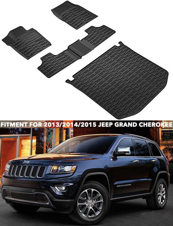 Floor mat for Jeep Grand Cherokee 2013-2015 All Weather Guard Floor & Cargo TPE Slush Liner Mats