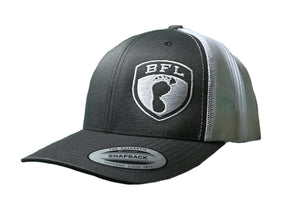 White Shield Grey Trucker Hat - Barefoot League