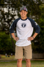 Load image into Gallery viewer, BFL Shield Raglan Tee - Barefoot League
