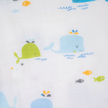 4 Layer Blanket - Whale Family