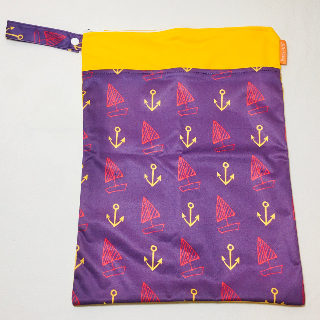 Happy Flute Travel Wet Bag - Anchors