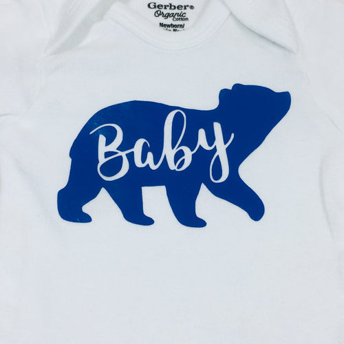 Newborn Bodysuit - Baby Bear (Navy)