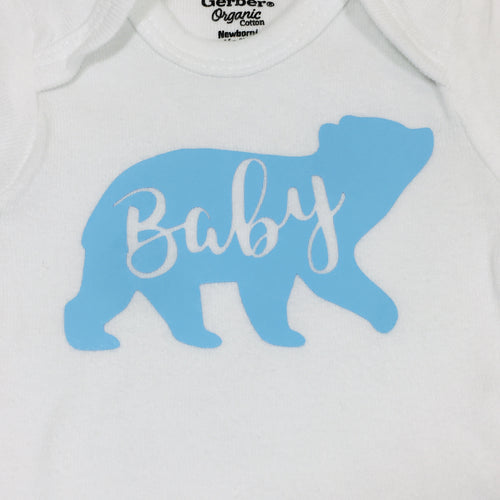 Newborn Bodysuit - Baby Bear (Baby Blue)
