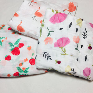 Muslin Blanket - Flamingos