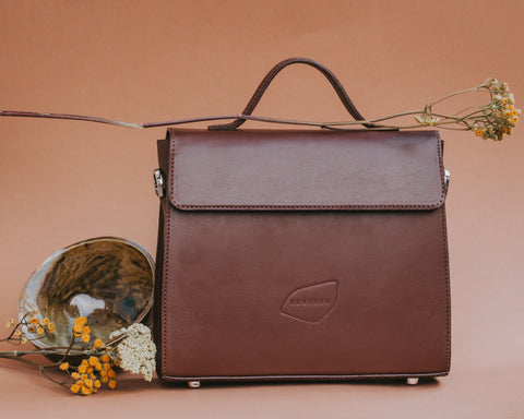 ILONKA Handbag - Chocolate Brown