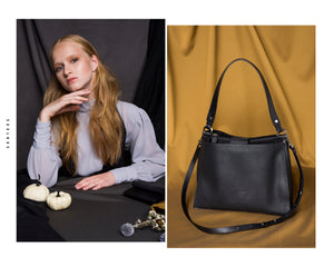 JUTKA Shoulder bag - Midnight Black