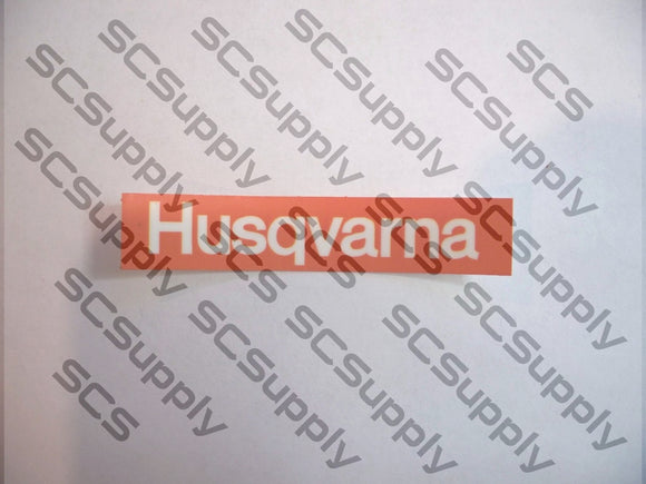 Husqvarna CD versions clutch side of airbox decal
