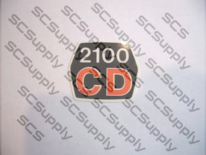 Husqvarna 2100CD flywheel cover decal