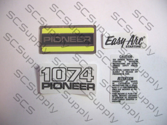 Pioneer 1074 decal set