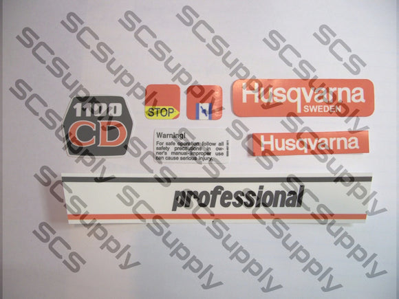 Husqvarna 1100CD Classic decal set