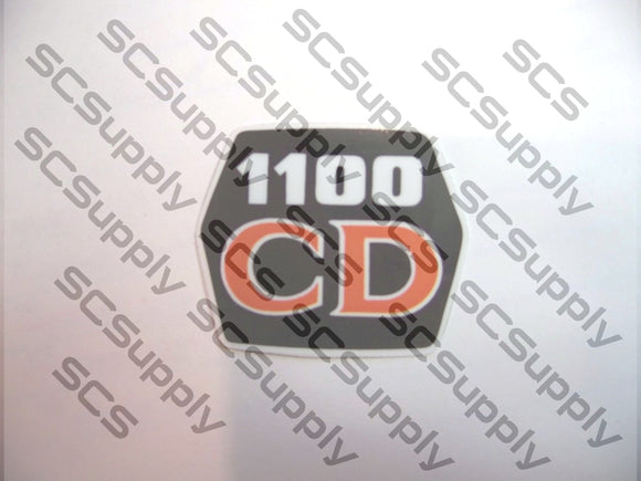 Husqvarna 1100CD (classic) flywheel decal