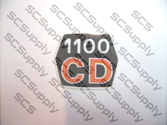 Husqvarna 1100CD (late) flywheel decal