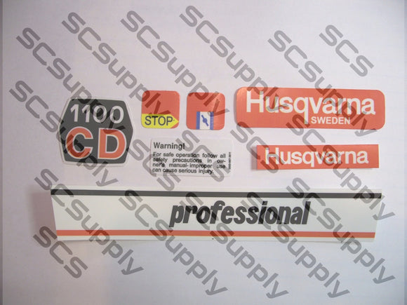 Husqvarna 1100CD (late) decal set