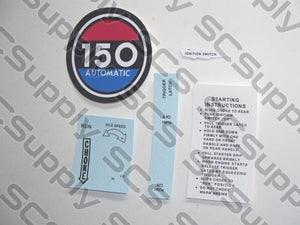 Homelite 150(red) decal set