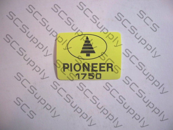 Pioneer 1750 decal set