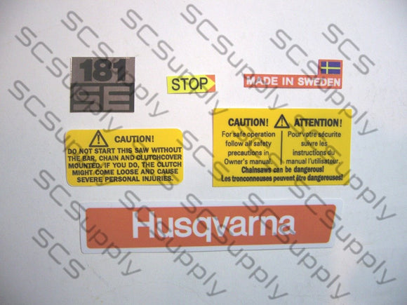 Husqvarna 181SE decal set