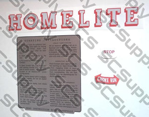 Homelite 20MCS decal set