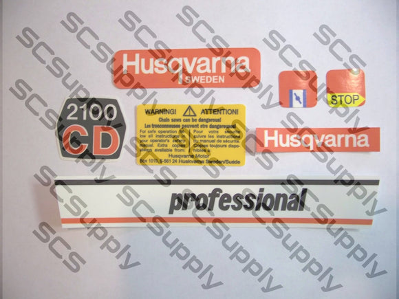Husqvarna 2100CD (early) decal set