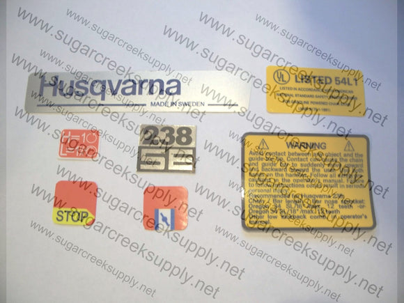 Husqvarna 238SE decal set