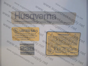 Husqvarna 238 decal set
