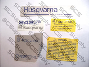 Husqvarna 242XPG (late) decal set