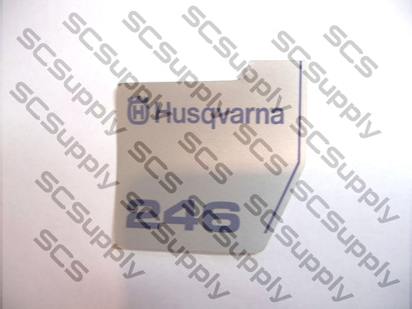 Husqvarna 246 flywheel decal