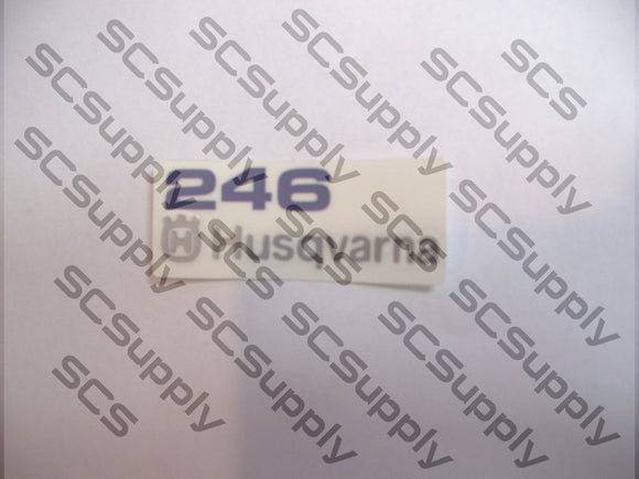Husqvarna 246 airbox decal