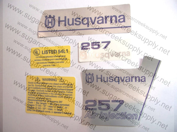 Husqvarna 257 decal set